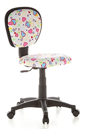 hjh OFFICE Kiddy Top 670170 Silla para Niños, Multicolor (Flowers/Hearts), 37 x 50 x 90 cm: Amazon.es: Hogar