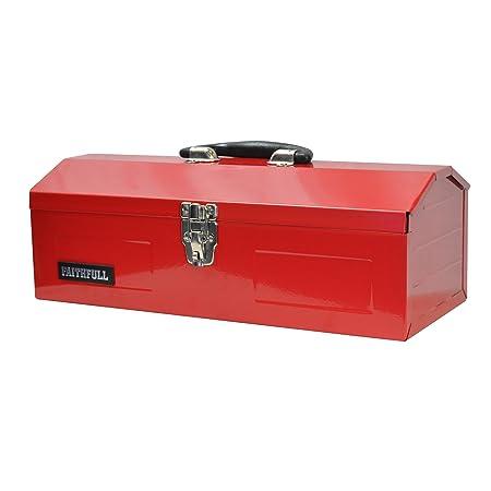 faithfull tbb16 metal barn tool box 42 cm amazon co uk diy tools