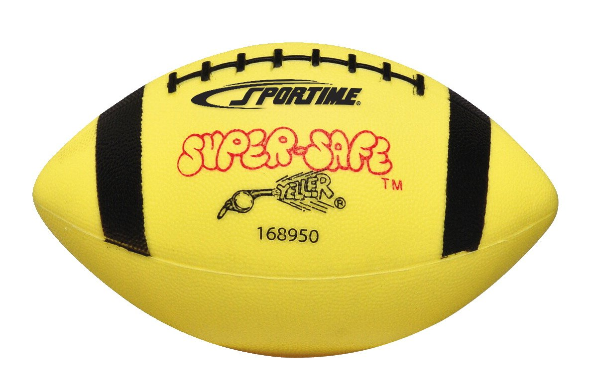 Sportime - Balón de fútbol juvenil sin costuras, color amarillo y ...