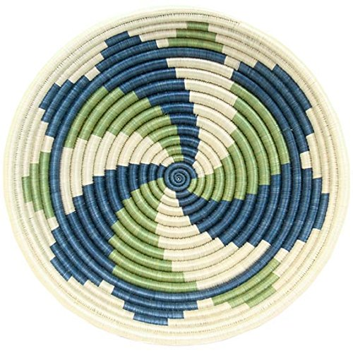 "Fair Trade Rwanda African Sisal Bowl 11-12"" Across, #33844"