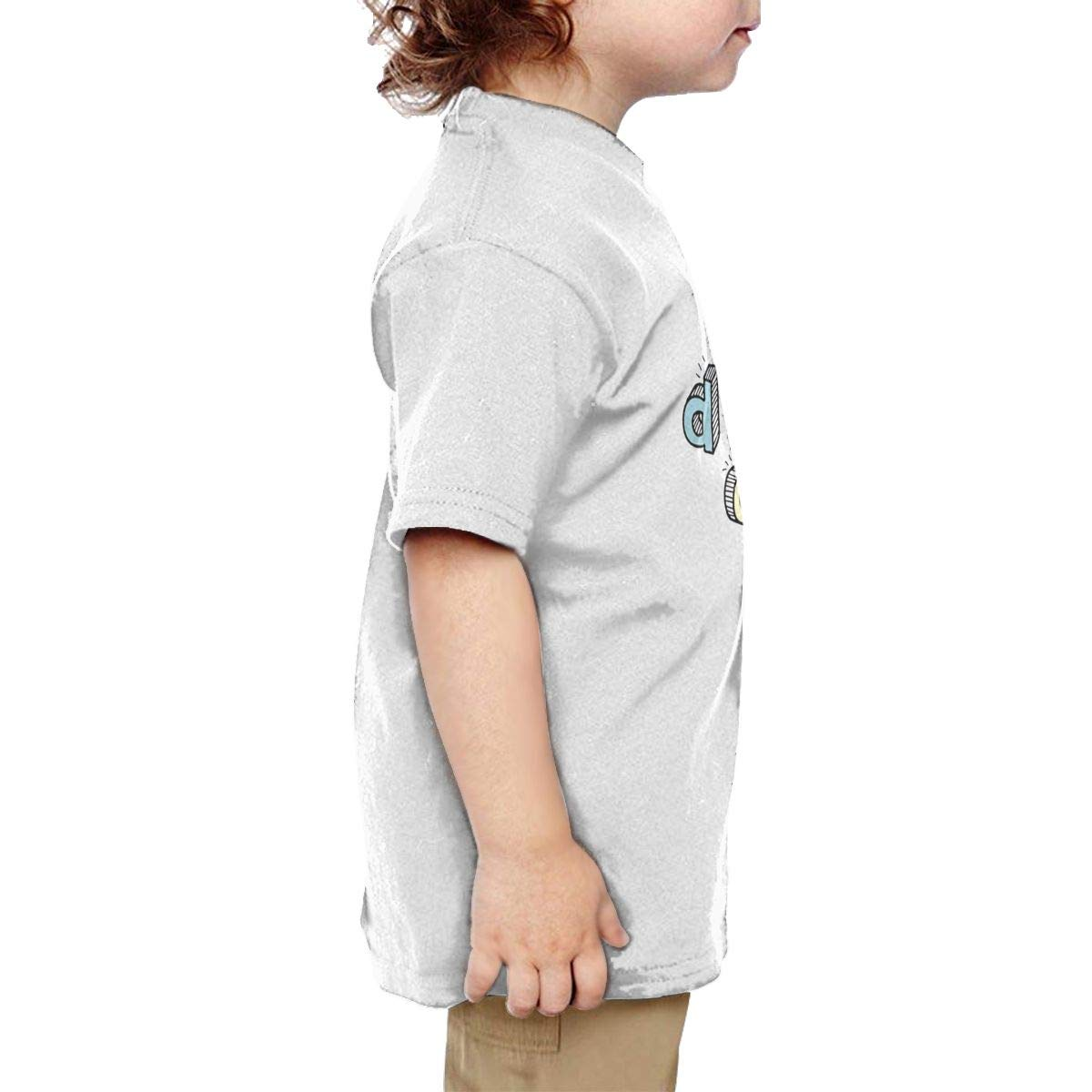 Chunmmmmm I Donut Care Baby Boy Short Sleeve Round Neck Cotton Tshit