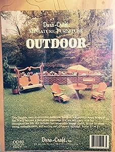 dura craft miniature dollhouse outdoor furniture bl 112 dollhouse miniature