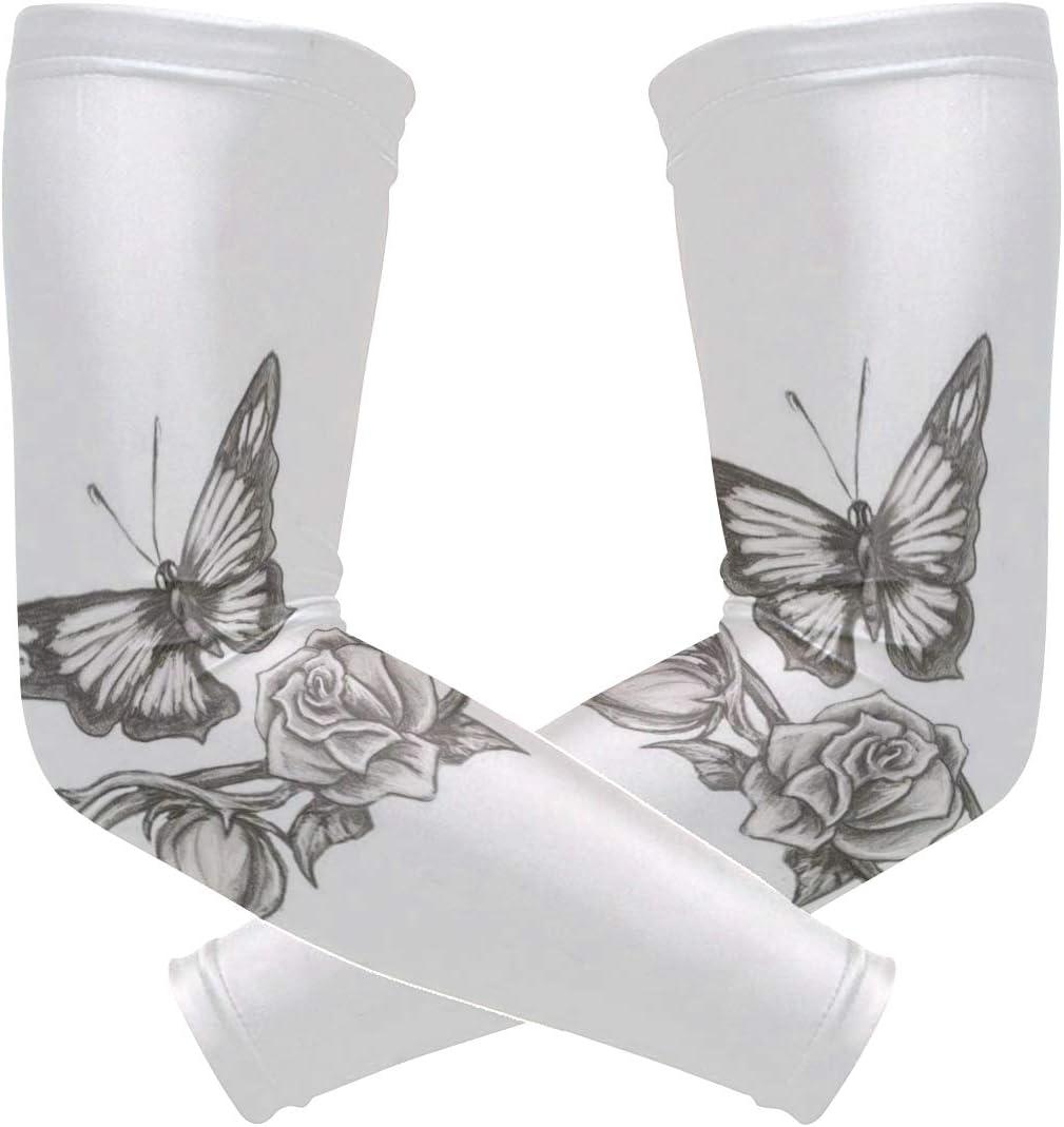 Arm Sleeves Diamonds Jewelery Mens Sun UV Protection Sleeves Arm Warmers Cool Long Set Covers