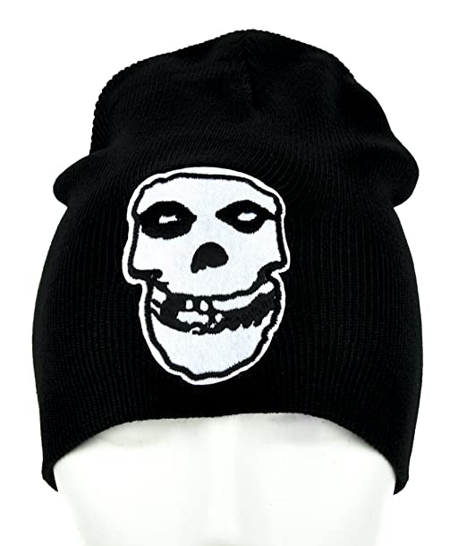 Amazon.com  Horror Punk Rock Misfits Skull Beanie Knit Cap Goth ... 3c1c8cac8c1