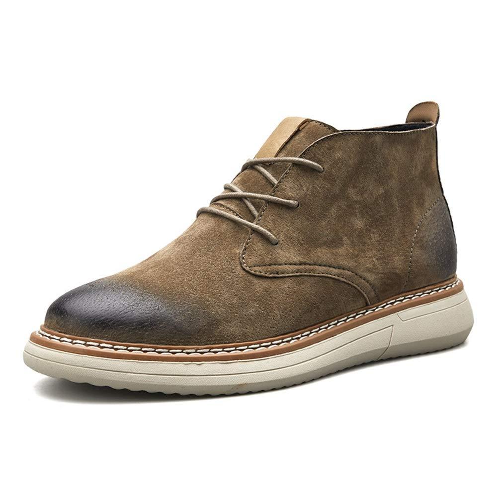 Qiusa Herren Polierte Lackstiefel Weiche Sohle Rutschfeste Lässige Strapazierfähige Stiefel (Farbe   Braun, Größe   EU 43)