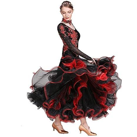 Rendimiento Vals Falda Trajes De Danza Moderna Modernas Faldas De ...