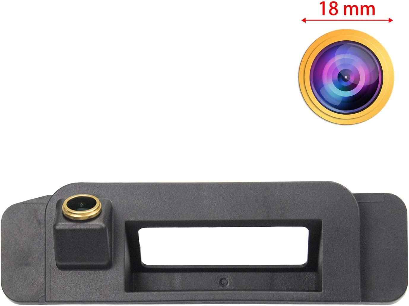 HD Golden Camera 1280x720p Reversing Camera Integrated in Trunk Handle Rear View Backup Camera for Mercedes Benz C Class W205 CLA C117 2015-2017 w//NTG5.0//5.1