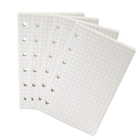 Amazon.com: Moterm - Recambio para cuaderno de anillas A7, 6 ...