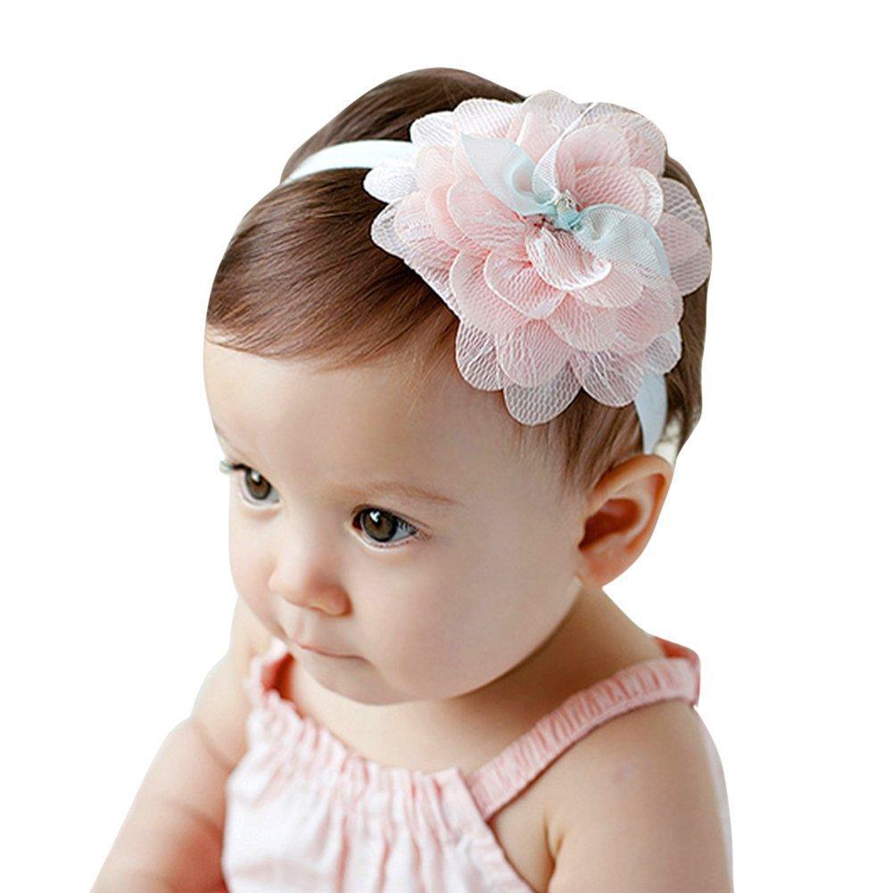 EXIU Lot 8 Bébé Fille Doux Bandeaux cheveux de élastique Lapin ... f58314667ba