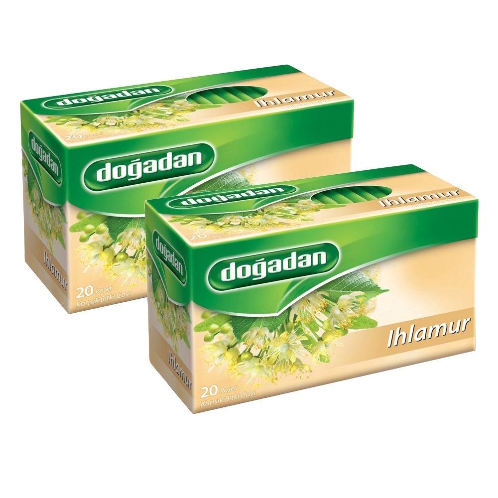 Dogadan Ihlamur (Linden Herbal Tea) 20 Tea Bags, Pack of 2