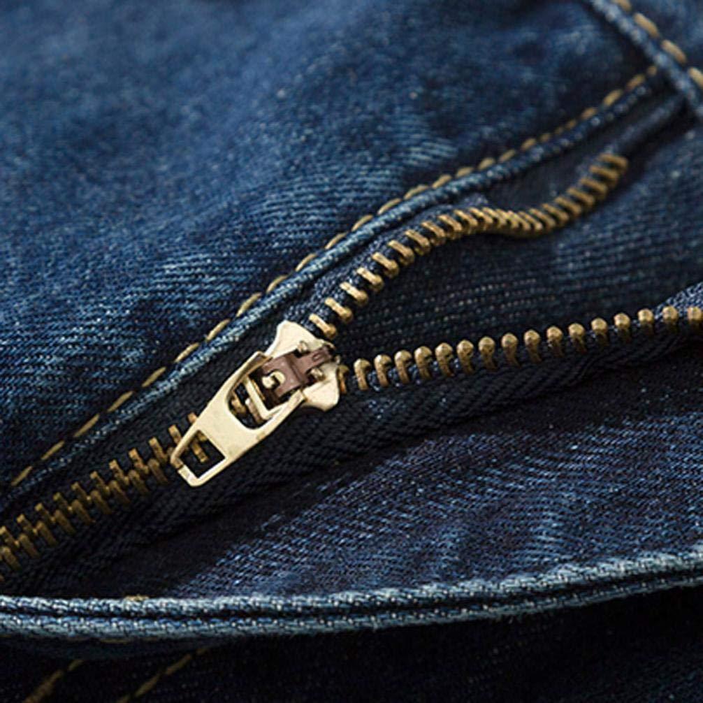 Elogoog Slim Fit Biker Jeans Mens Super Comfy Stretch Skinny Biker Denim Jeans Pants