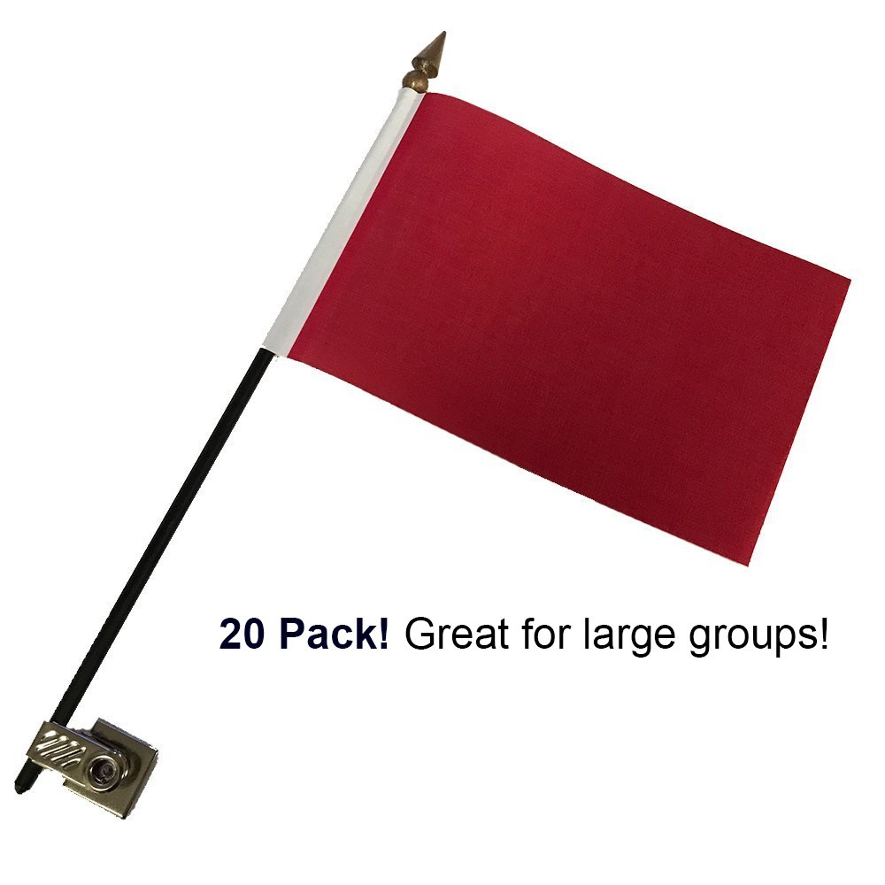 20 Pack Red Desk Flags with Flag up Flag Down 360 Metal Clips Pomodoro Status Alert Office by Deskflag (Image #2)