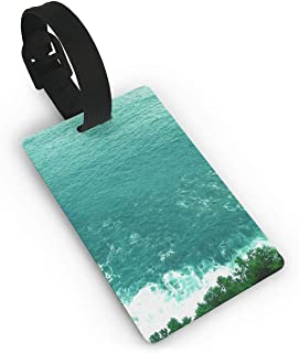 Sea Coast Hill Travel Luggage Tag Suitcase ID Lablels Accessories leather Wristband