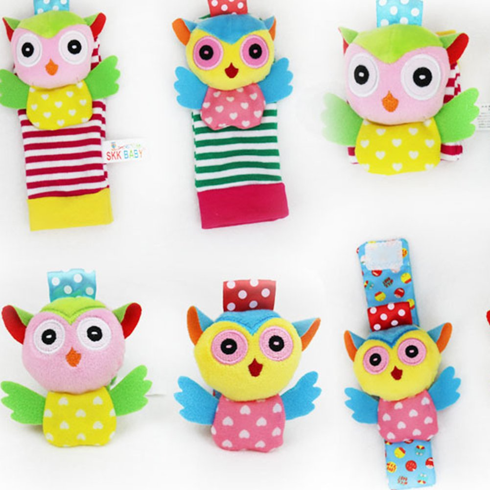 Foot Socks Unisex Animal Soft Foots Finders Developmental Toys Gifts for Newborn Baby Boy Girl owl Socks Health Baby Care Hemore Infant Baby Animal Rattles Toys