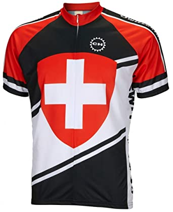 Amazon.com  World Jerseys Switzerland Cycling Jersey  Clothing 02a2408c0