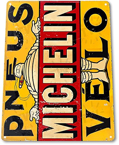 tin-sign-michelin-pneus-velo-wheels-tires-parts-service-auto-shop-garage-a937