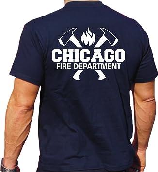 Cfd Chicago Vigili Del Fuoco T Manica Lunga T-shirt WIgte