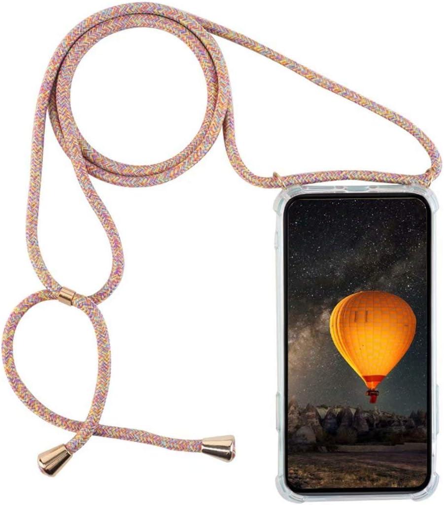 YFXP Funda Compatible con Samsung Galaxy J3 2016/J310 Transparente TPU con Correa Colgante Ajustable Collar Correa de Cuello Cadena.