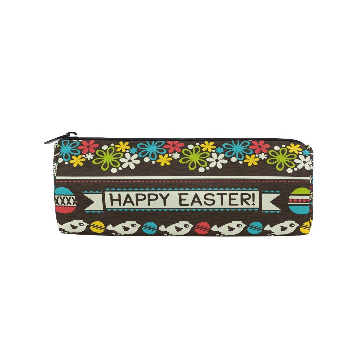 Estuche para lápices de estudiantes, diseño de huevos, conejo, flores, pájaros, bolígrafo con cremallera, bolso para niños y niñas: Amazon.es: Oficina y papelería