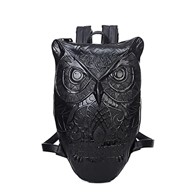 UniquQ Owl Fashion Design Men travel Backpacks 3D Animal Bookbag School Bags for Day Pack Mochila