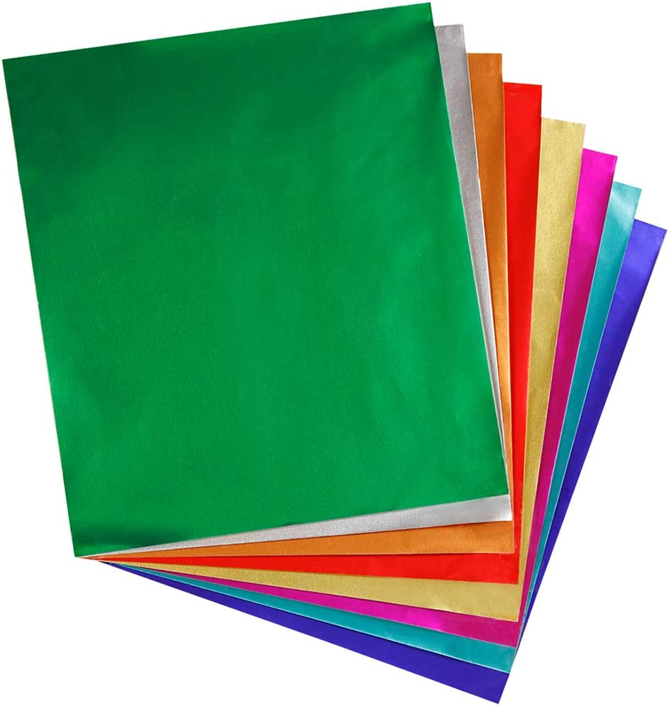 "Amazon.com: Hygloss Products Metallic Foil Paper Sheets - 8 Assorted  Colors, 8 1/2 x 10"", 24 Sheets: Industrial & Scientific"
