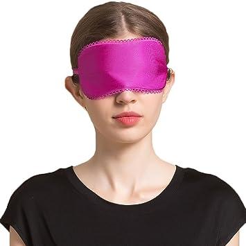 Amazon.com: hoffen Mujer Seda Máscara de Dormir con los ojos ...