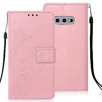 Compatible para Samsung Galaxy S10E Carcasa Cuero Libro Billetera ...