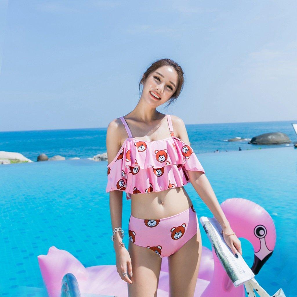 Badeanzug-weiblicher konservativer Kursteilnehmer-aufgeteilter Badeanzug-reizvoller dünner dünner Kasten sammelt Lotos-Blatt-heißer Frühlings-Feiertags-Badeanzug