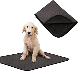 Rantow Machine Washable Pet Pee Pad - Use in Car/Crate/Bed/Sofa - Anti-Slip Puppy Training Mat Waterproof Dogs Bed Mat - 3 Size for Different Pets