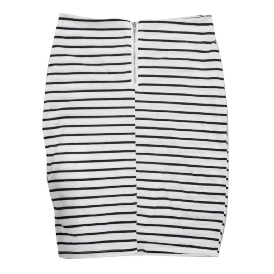 Womens Pencil Skirts Striped Skirt Short Skirt WORK