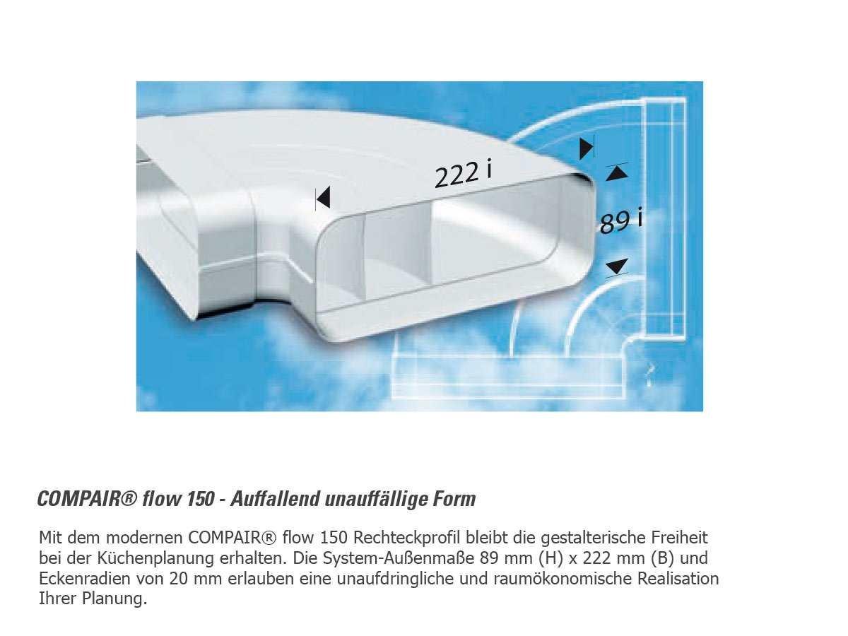 Compair 404.3.003 F-RBH 90 Rohrbogen horizontal 90/°