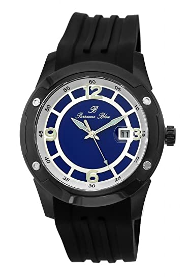 porsamo Bleu Tokio automático silicona negro & azul hombres del reloj 172 Ator