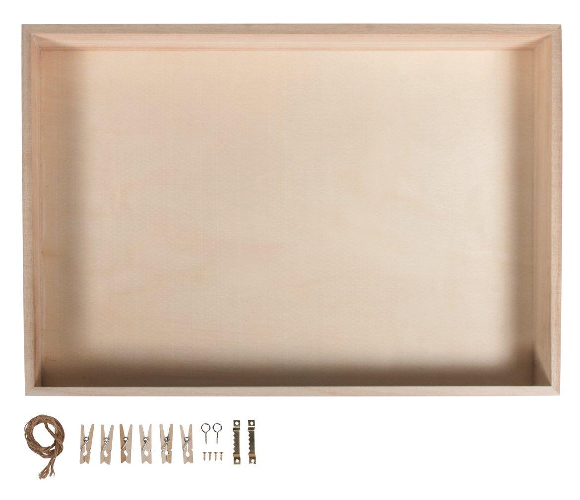 Rayher 62817000 Holz-Rahmen mit Rückwand, FSC Mix Credit Rayher Hobby GmbH