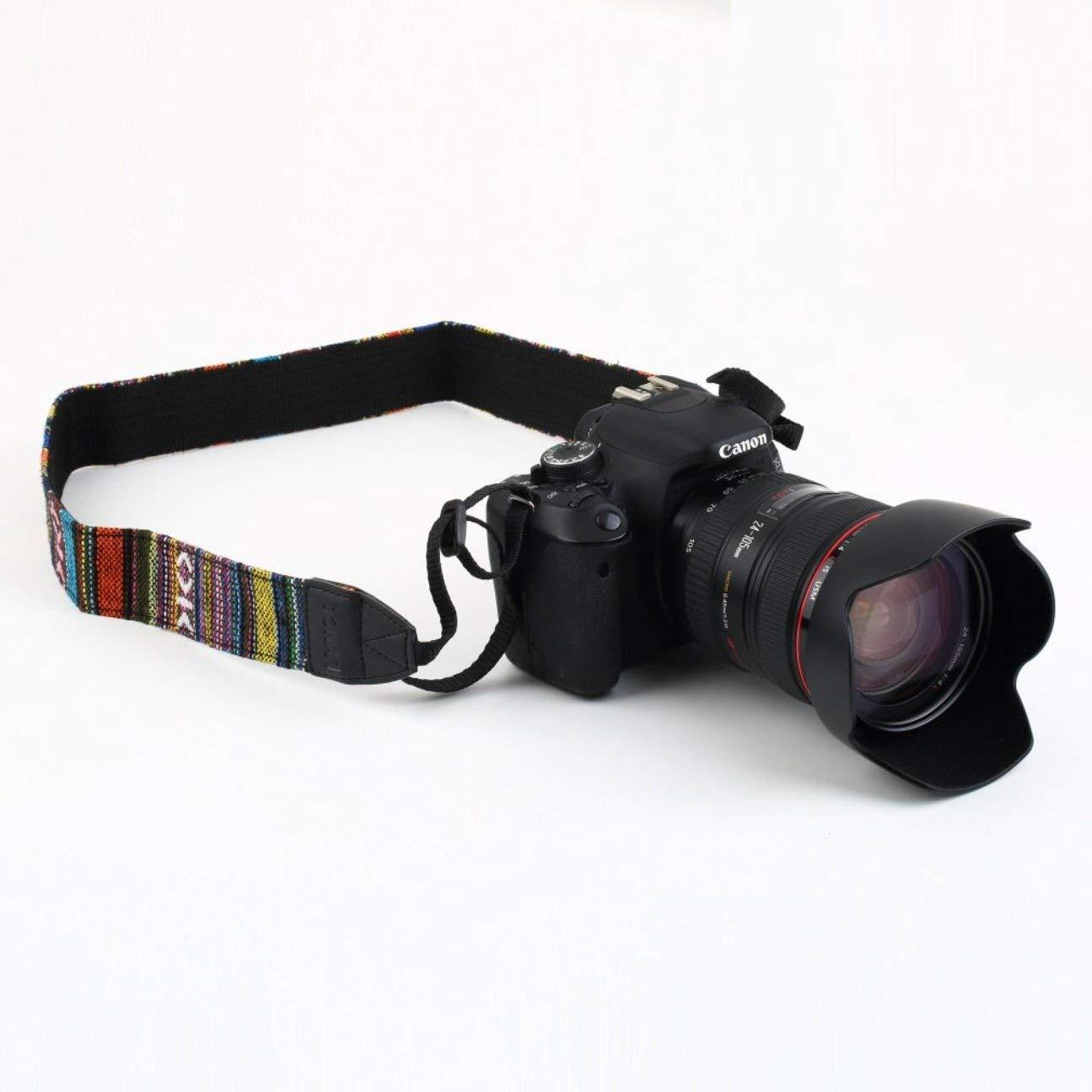 Correa para el Cuello del Hombro de la c/ámara del Estilo Atemporal Duradero Universal para DSLR para Nikon para Canon para Sony para Panasonic Colorido