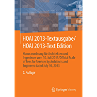 HOAI 2013-Textausgabe/HOAI 2013-Text Edition: Honorarordnung für Architekten und Ingenieure vom 10. Juli 2013/Official… book cover