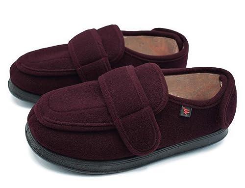bef9f6147d10 Mei MACLEOD Women s Memory Foam Diabetic Slippers Warm Plush Fleece Arthritis  Edema Swollen House Slippers with