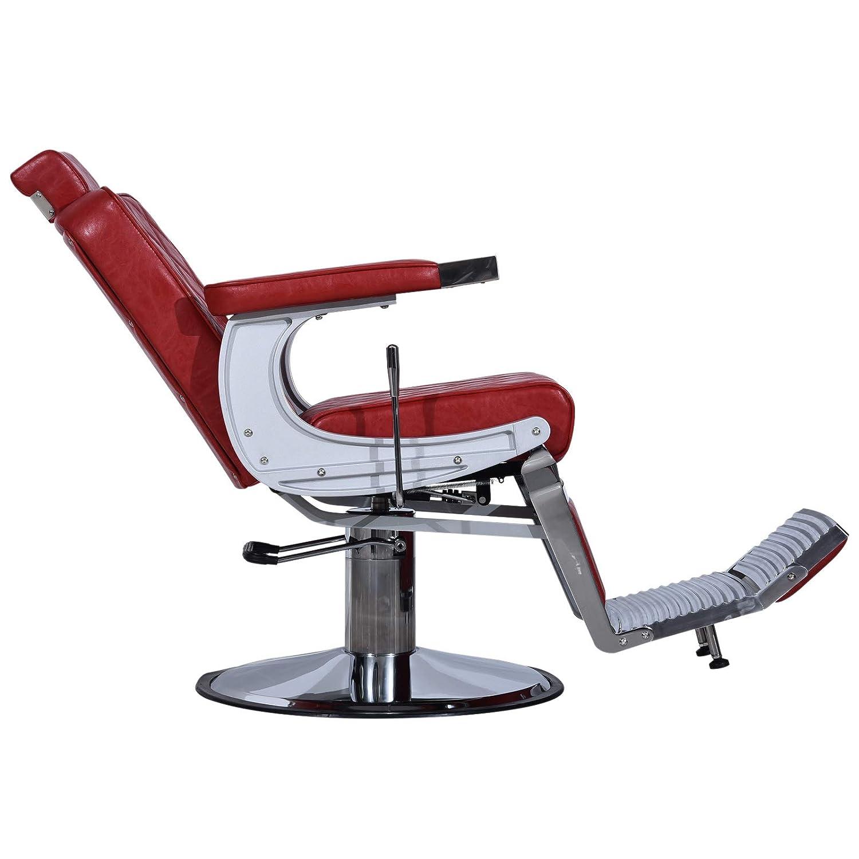 Amazon.com: BarberPub 3825 - Silla de peluquería de metal ...