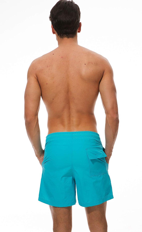 KEFITEVD Mens Beach Shorts Waterproof Swimming Shorts Casual Surf Shorts Mesh Lined Board Swim Trunks