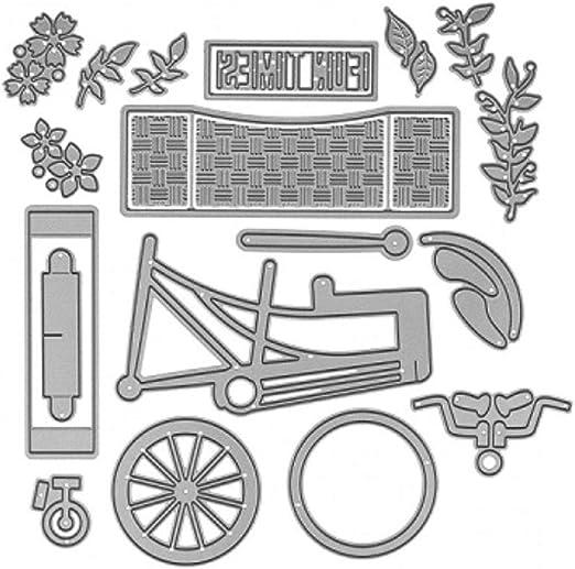 Molde troquelado de metal para bicicleta, decoración de letras ...