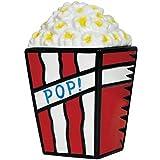 """11 Inch Popcorn """"Pop"""" Kitchenware Cookie Jar - Red White and Blue"""