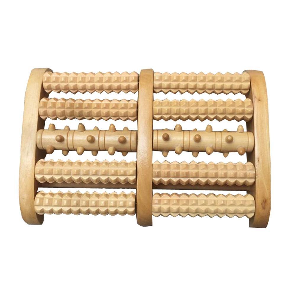 Fußmassageroller Holz Fußroller Fußmassagegerät Fuß-Massage-Rolle Reflexzonen