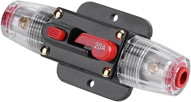 50A Disjoncteur DC12V-24V Auto Voiture R/éinitialiser contacteur Protection du Syst/ème audio vid/éo 20//30//50//60A