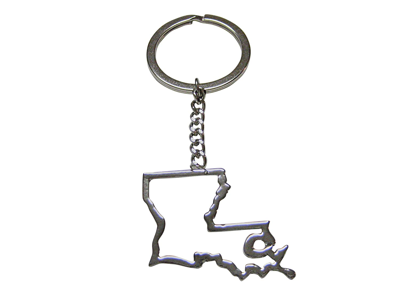 Amazon Com Louisiana State Map Outline Keychain Jewelry