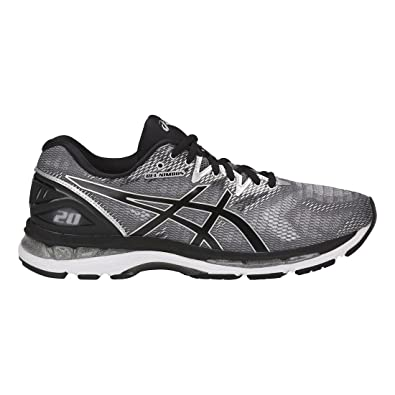 Asics T800N Men's Gel-Nimbus 20 Running Shoe, Carbon/Black/Silver -