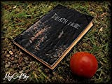 Replica Death Note notebook - book with parchment pages with first five rules inside it