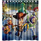 Custom the Toy Story 3 Waterproof Polyester Fabric Bathroom Shower Curtain Standard Size 66(w)x72(h)