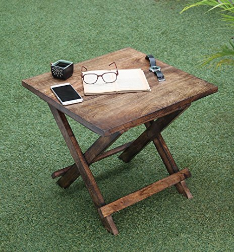 Folding wooden side table for Rustic outdoor coffee table