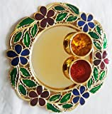 "Ira Creations Raksha Bandhan Round Plate (Size: 5.75"")"