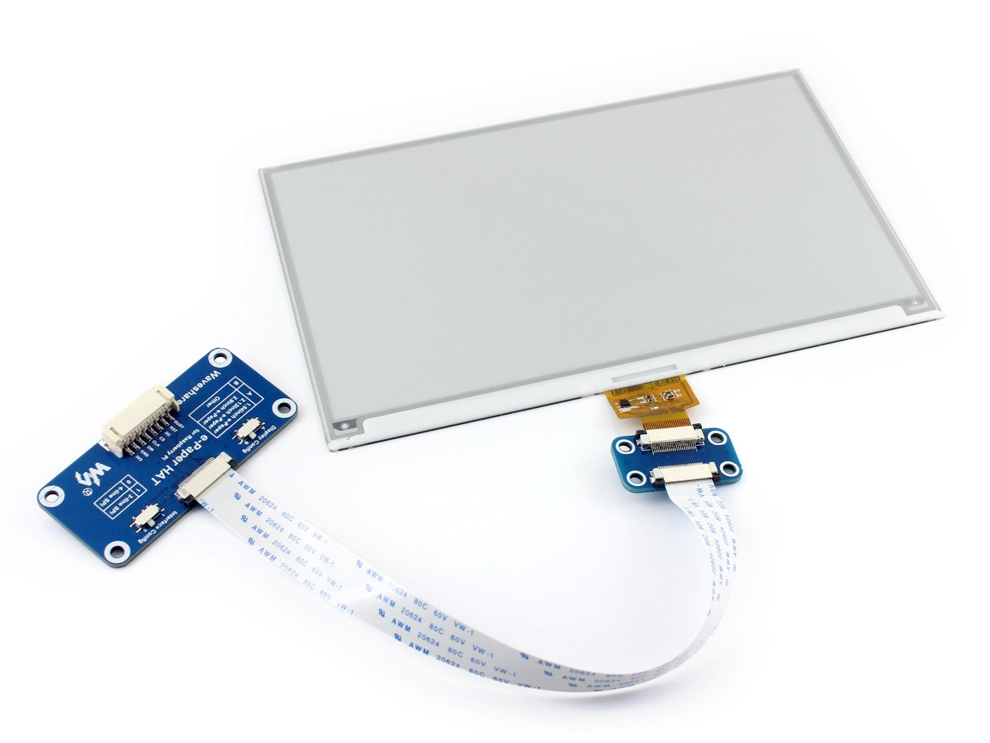 Waveshare 75 Inch E Paper Display Hat Module Kit 640x384 Resolution Wiringpi For Beaglebone 33v Ink Electronic Screen With Embedded Controller Compatible Raspberry
