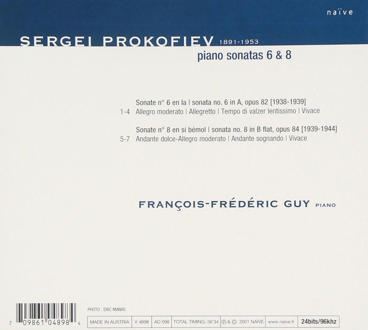 Sergej prokofjev pianosonater nr 6 7 8